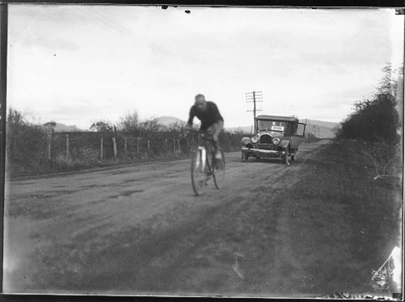 Snowy Eales, Launceston to Hobart Bike Race 1925.